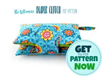 nappy wallet pattern - diaper clutch
