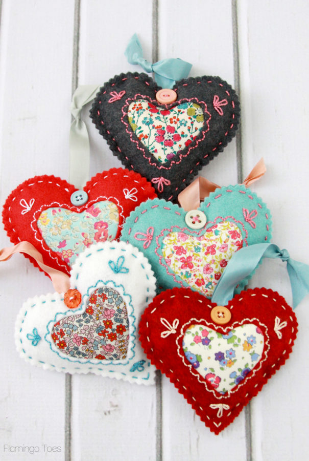 easy Valentines sewing projects