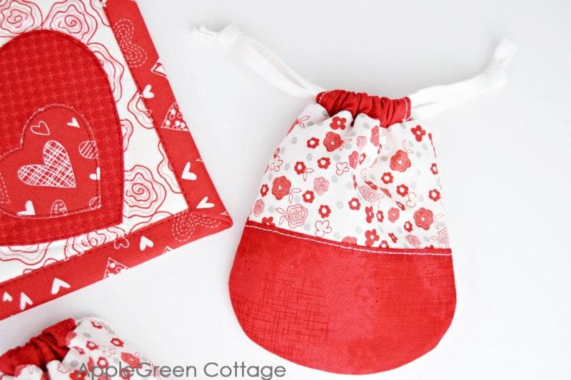 valentines drawstring pouch