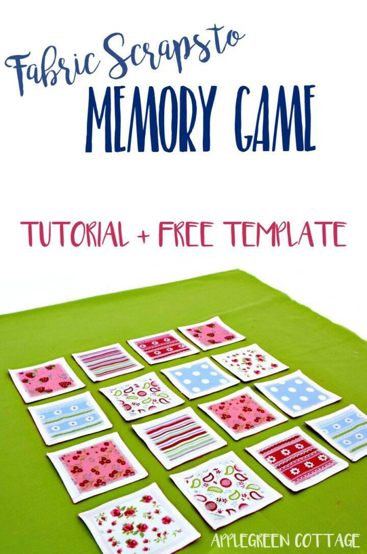 Fabric Memory Game - Tutorial Plus Free Template