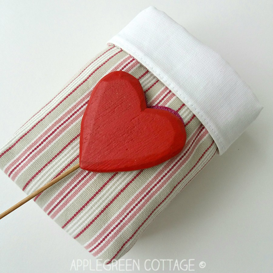 Mini Valentine Fabric Bin is hiding something inside - NOT what you think!