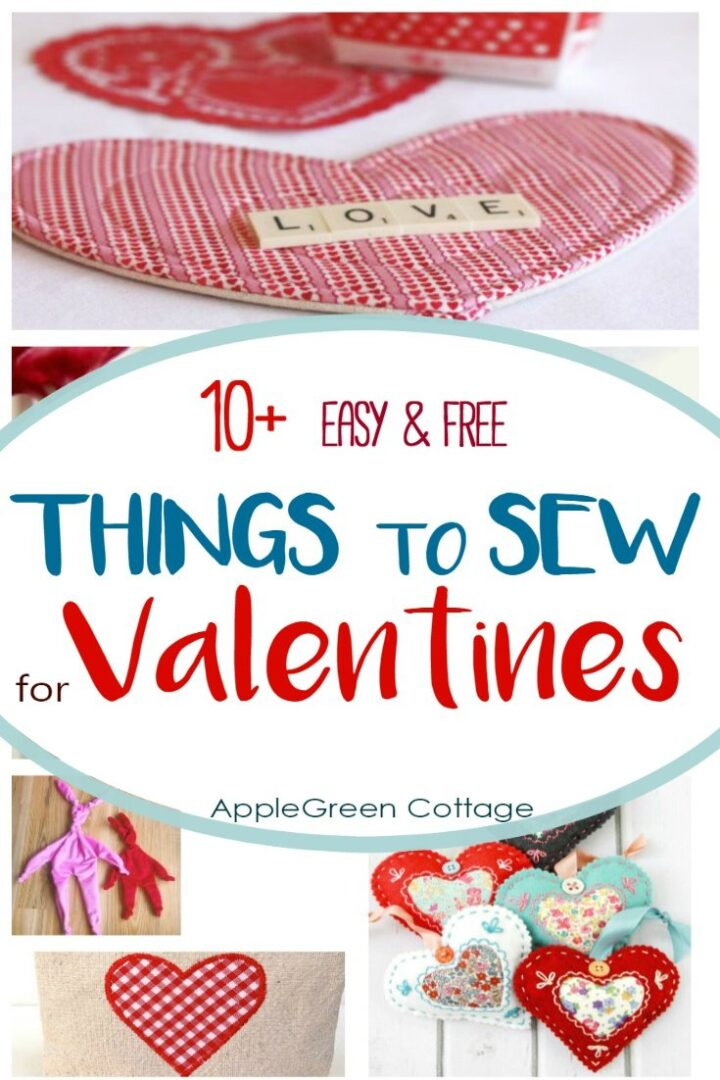 10+ Adorable Easy-Sew Valentine Sewing Projects