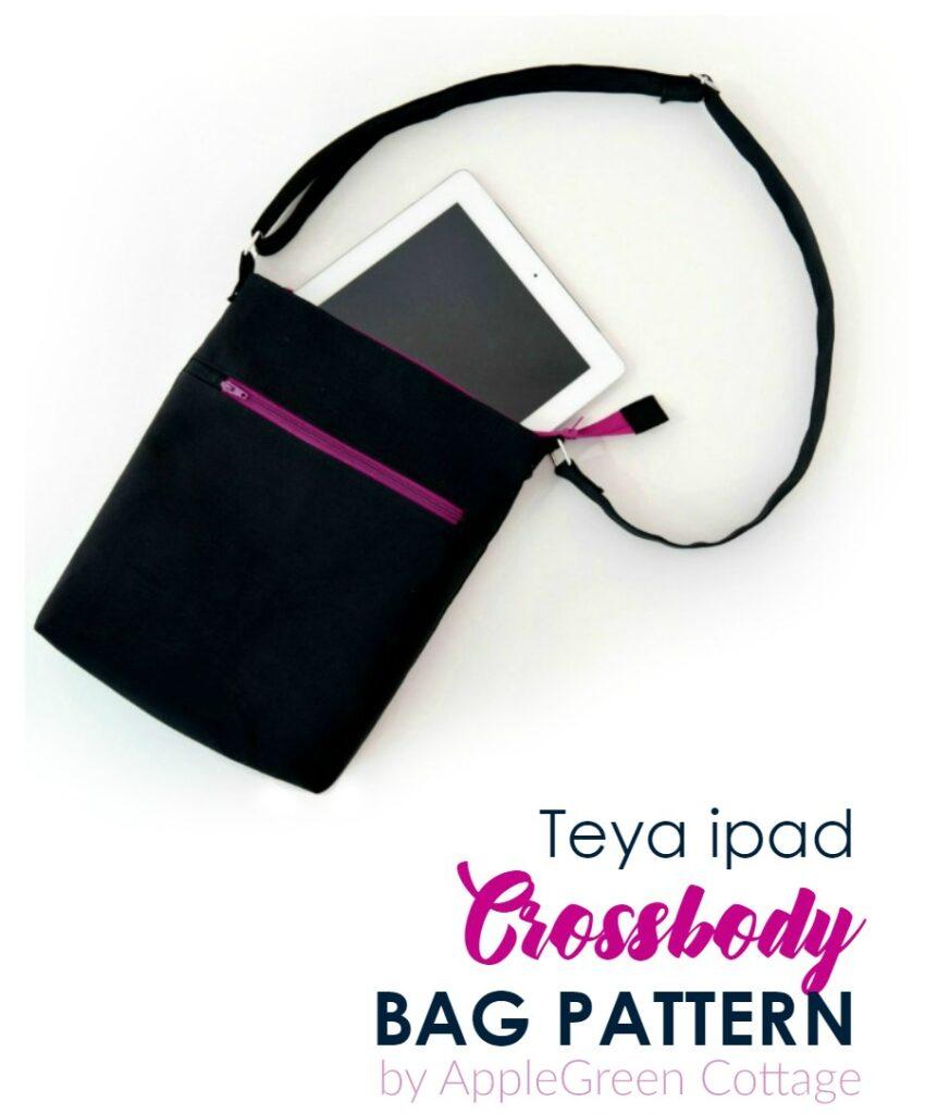 black crossbody bag sewing pattern