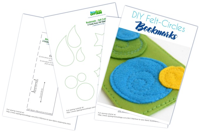Free pdf templates for bookmarks with applique