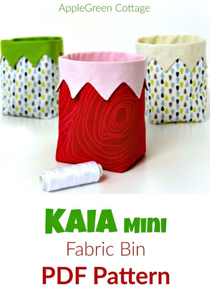 KAIA Mini Fabric Bin Pattern
