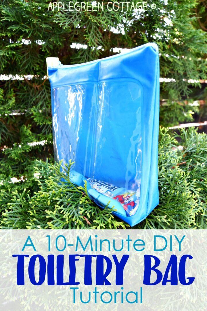 A 10-Minute Diy Toiletry Bag Tutorial - The Easiest Zipper Bag You'll Ever Make.