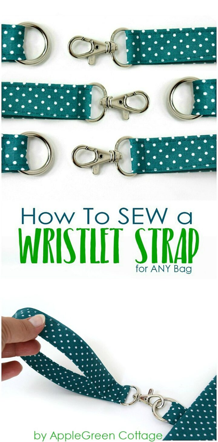 How To Add A Wristlet Strap To Any Bag, Pouch Or Wallet