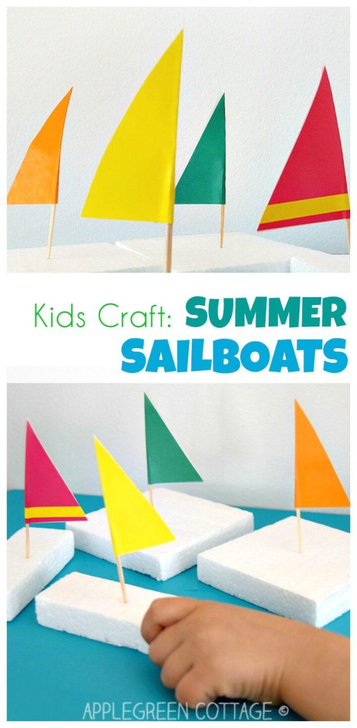 Sailboat Craft - Easy Kids Activities