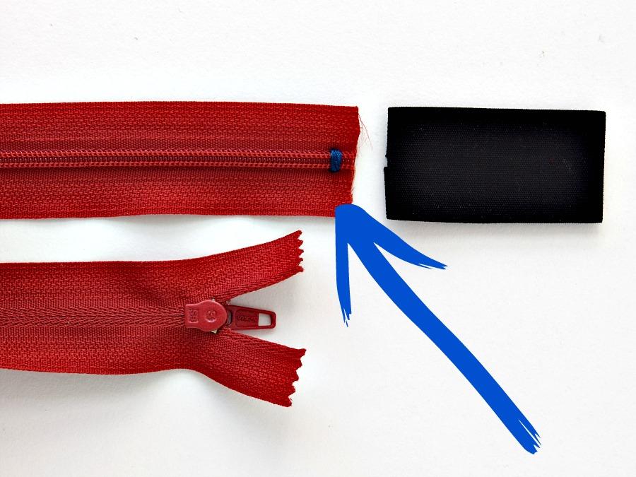 sewing zipper tab