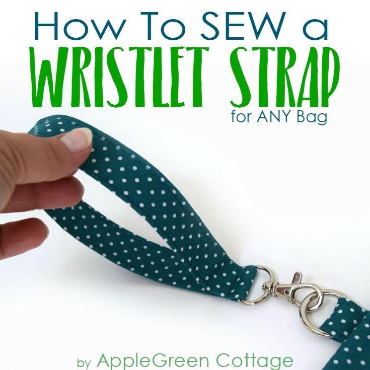 add wristlet strap to makeup bag