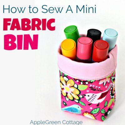how to sew a fabric bin