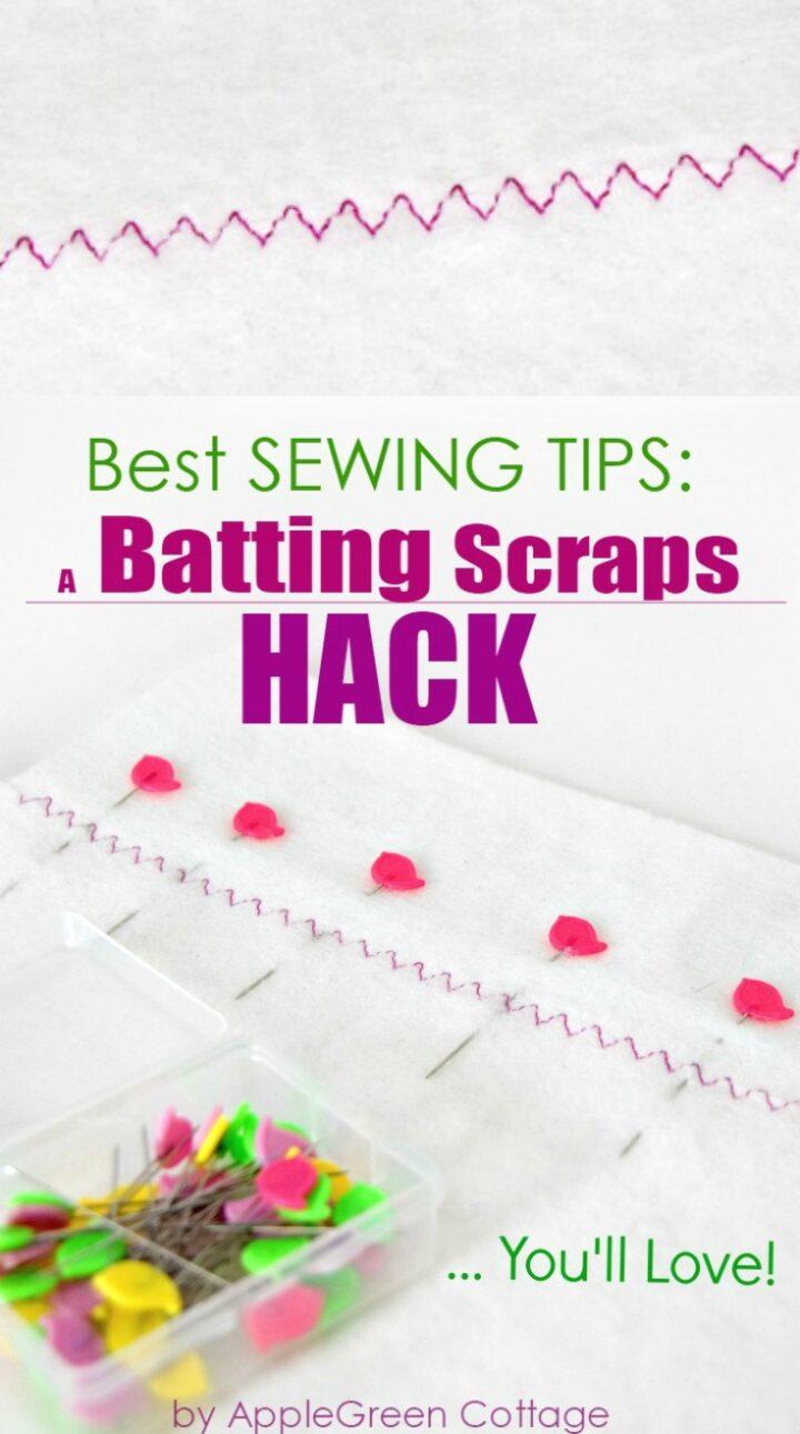 Sewing Batting: Batting Scraps HACK You'll Love!