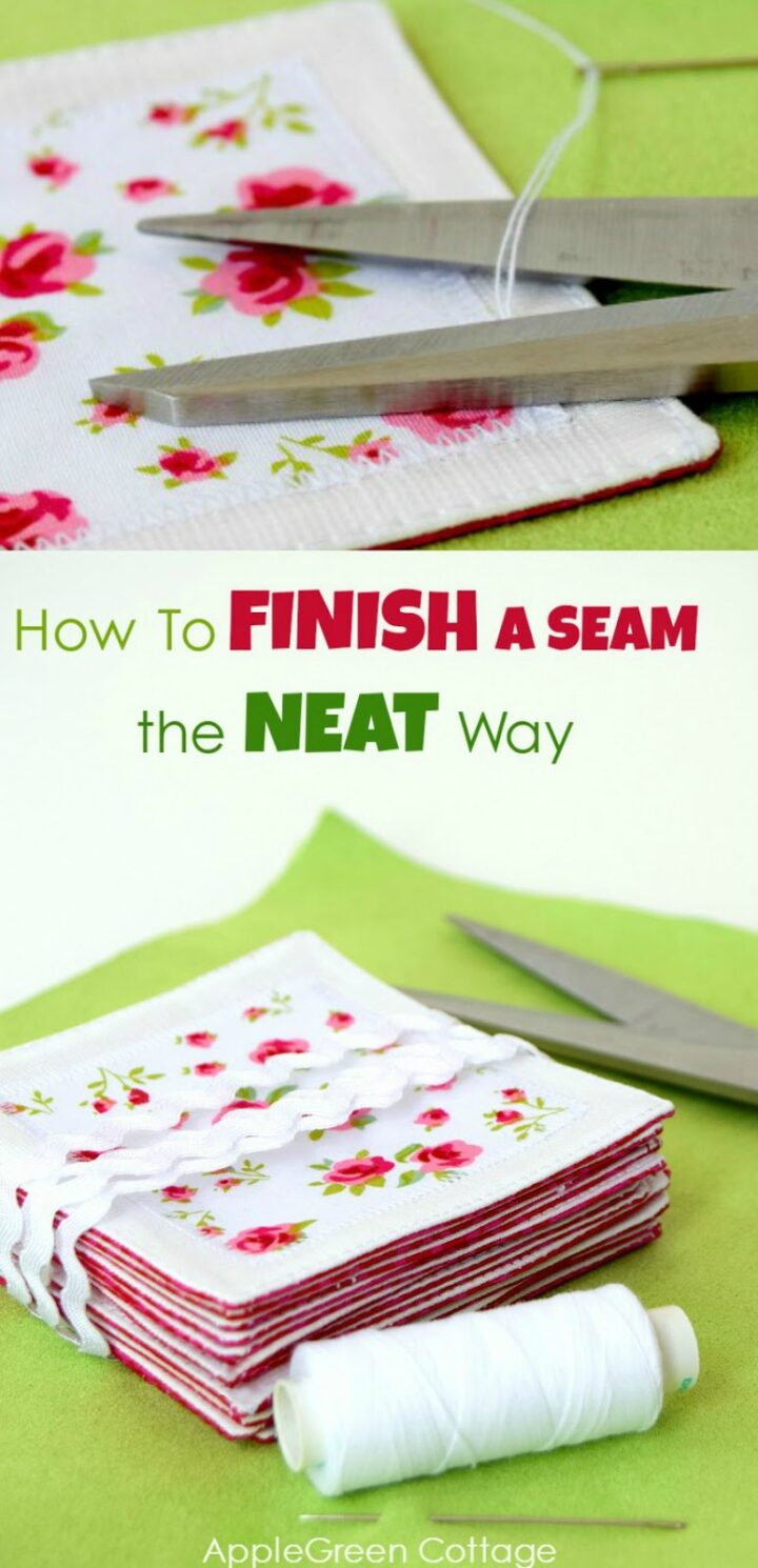 How To Finish Sewing - The Neat Way!