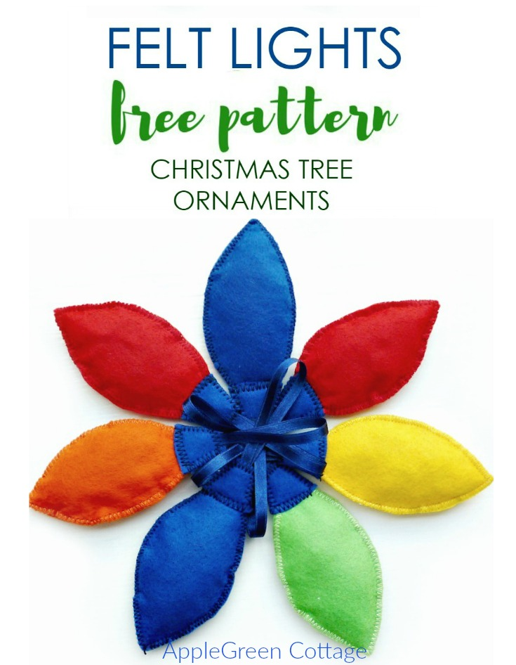 Free pattern - Christmas tree lights ornaments