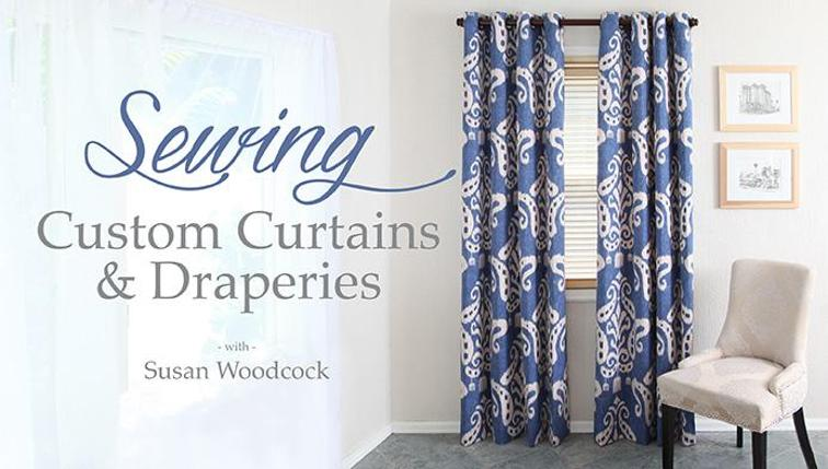 online sewing classes for curtains and draperies