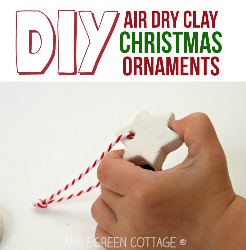 christmas card decorations with air dry clay
