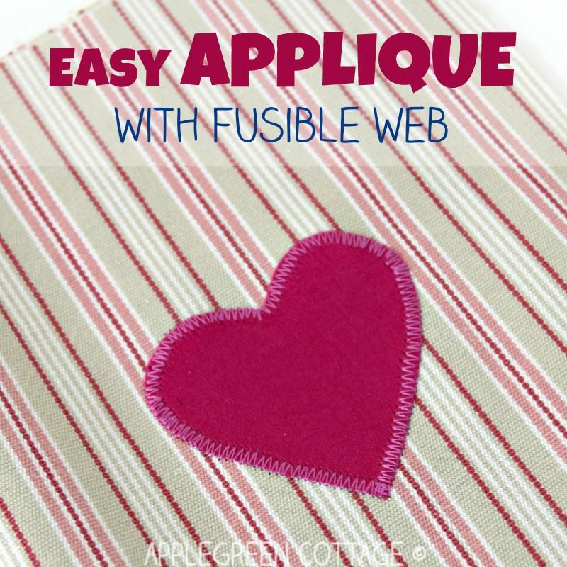 applique for diy Valentine basket