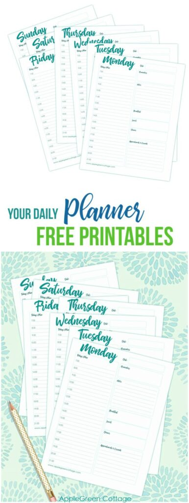Free Daily Planner Printable To Keep You Organized