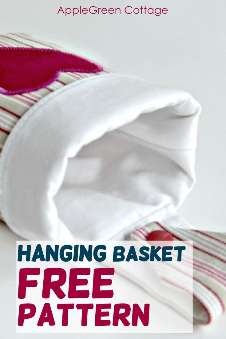 hanging storage basket with free pattern