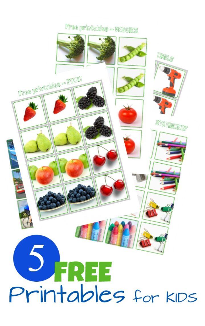 Free Printables For Kids - Memory Game Series