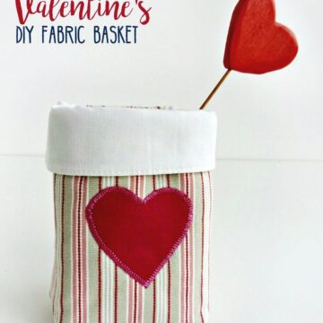 diy valentine basket pattern