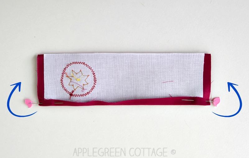 assembling the fabric bookmark