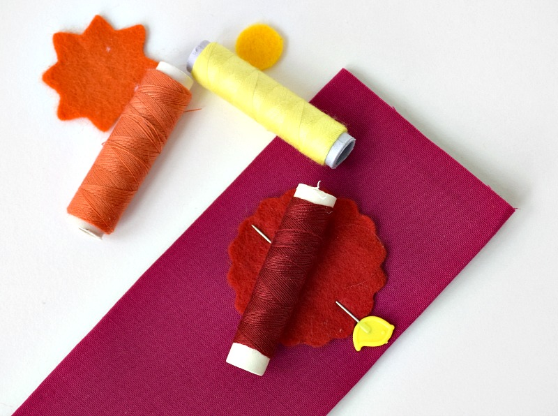 fabric bookmarks with felt applique