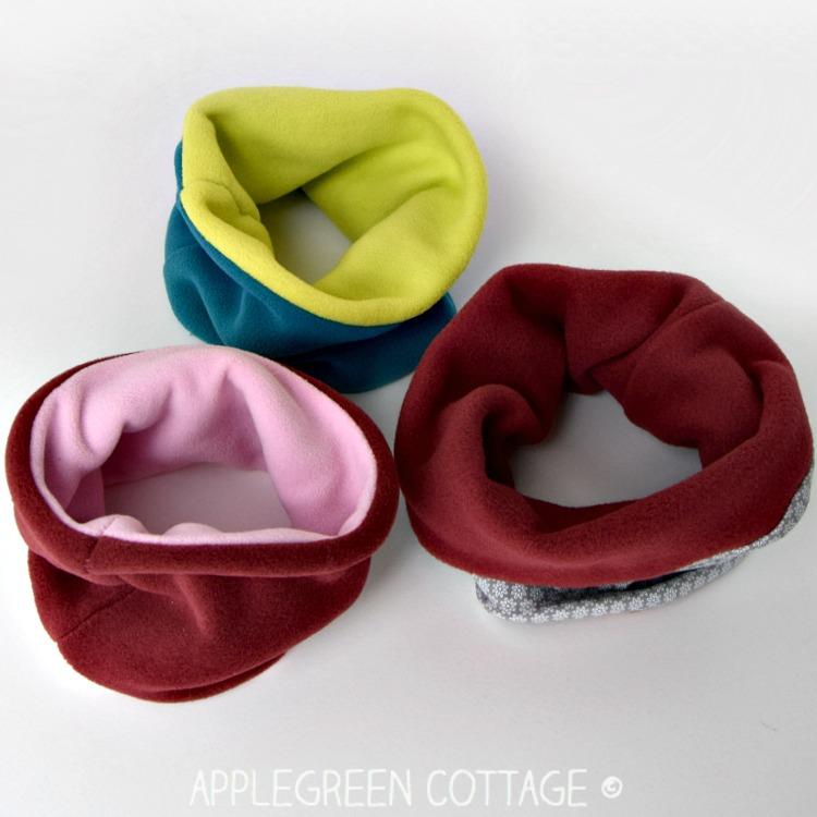 fleece neck warmer to sew