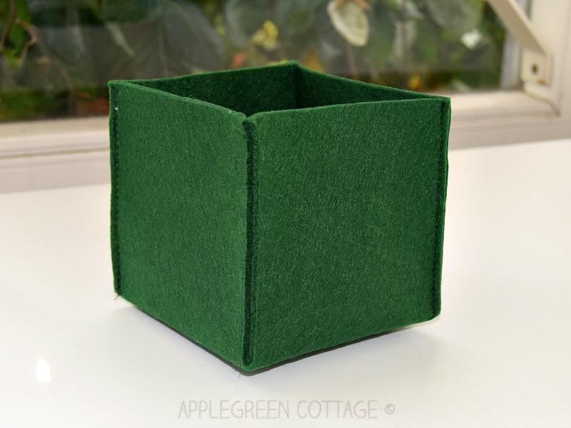 felt storage box free pattern