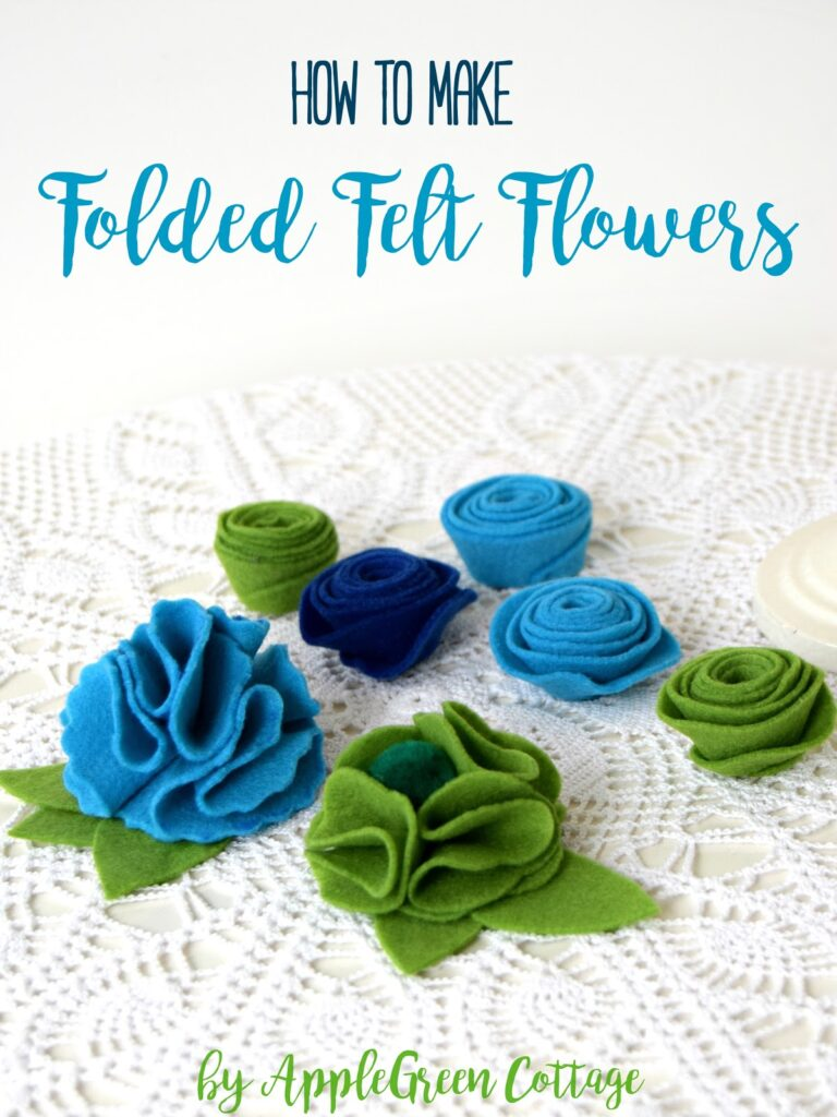 diy folded flowers on a white table