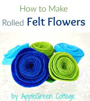 rolled flowers tutorial