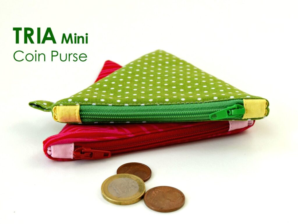 tria mini coin pouch - PDF pattern