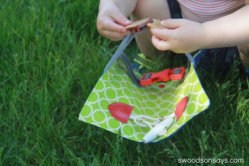 toddler buckle toy to sew