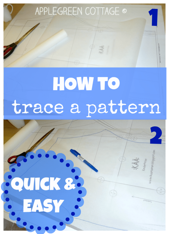 How To Trace A Sewing Pattern From A Template - 6 Smart Ways To Do that