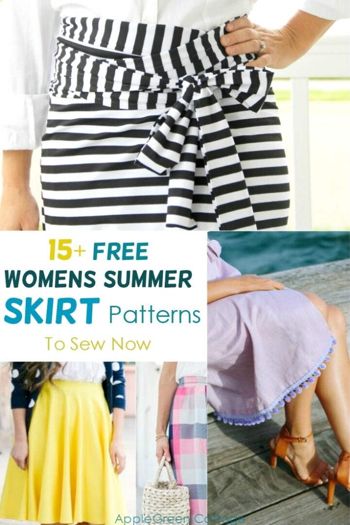 15+ Free Skirt Patterns To Sew For the Summer