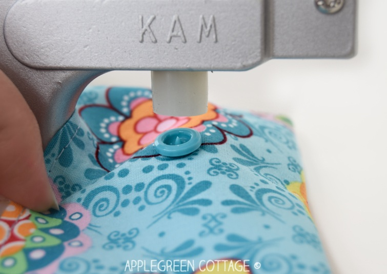 add snaps to any of your sewing projects