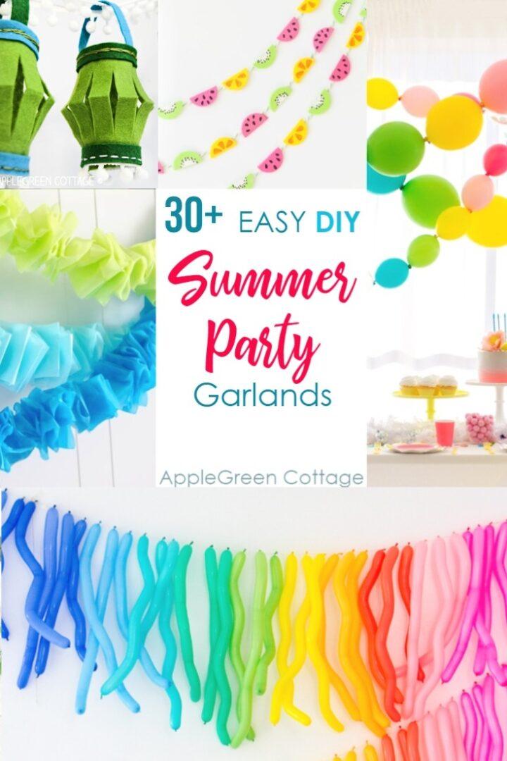 30 Diy Party Decorations Garlands