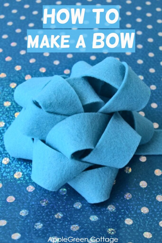 How to make a bow - easy bow tutorial for you to make a perfect gift bow. This decorative bow only requires scrap material, is reusable and - a gorgeous piece of diy decor.