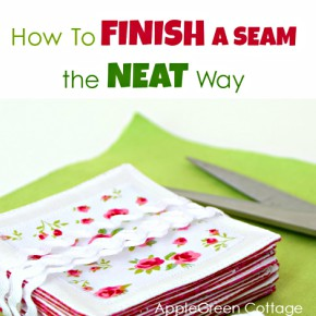how to end stitching