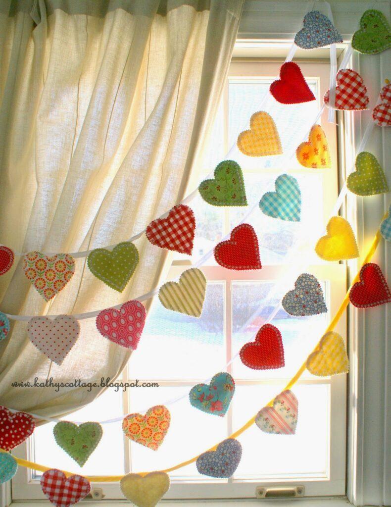 diy party decoration - hearts