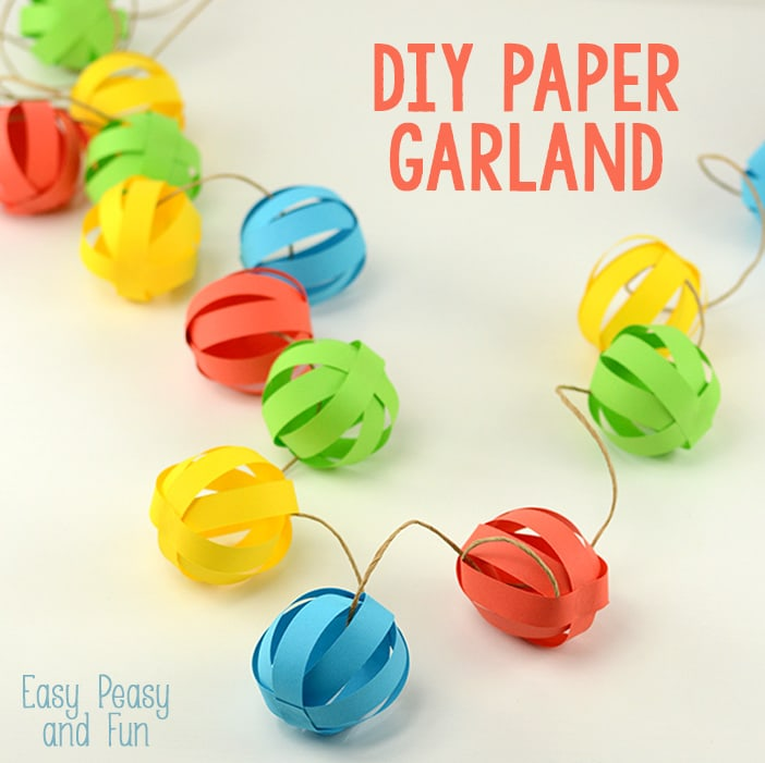 diy paper garland by Easy Peasy And Fun