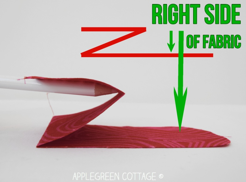 fabric pouch no zipper - sewing tutorial
