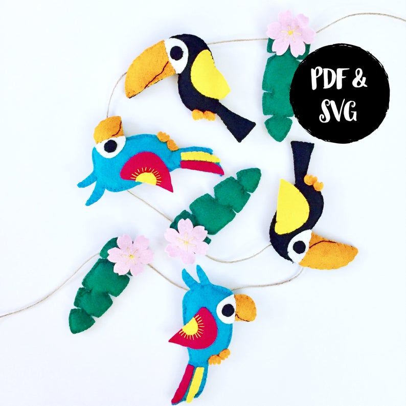 summer tropical garland to sew