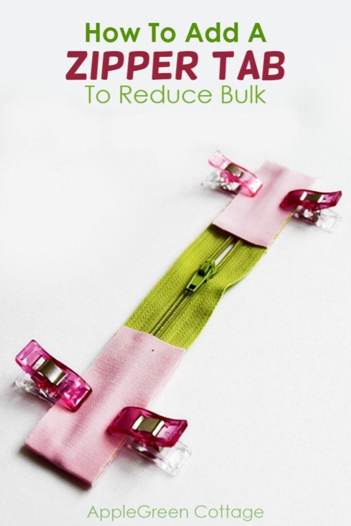 How To Sew A Zipper Tab To Reduce Bulk