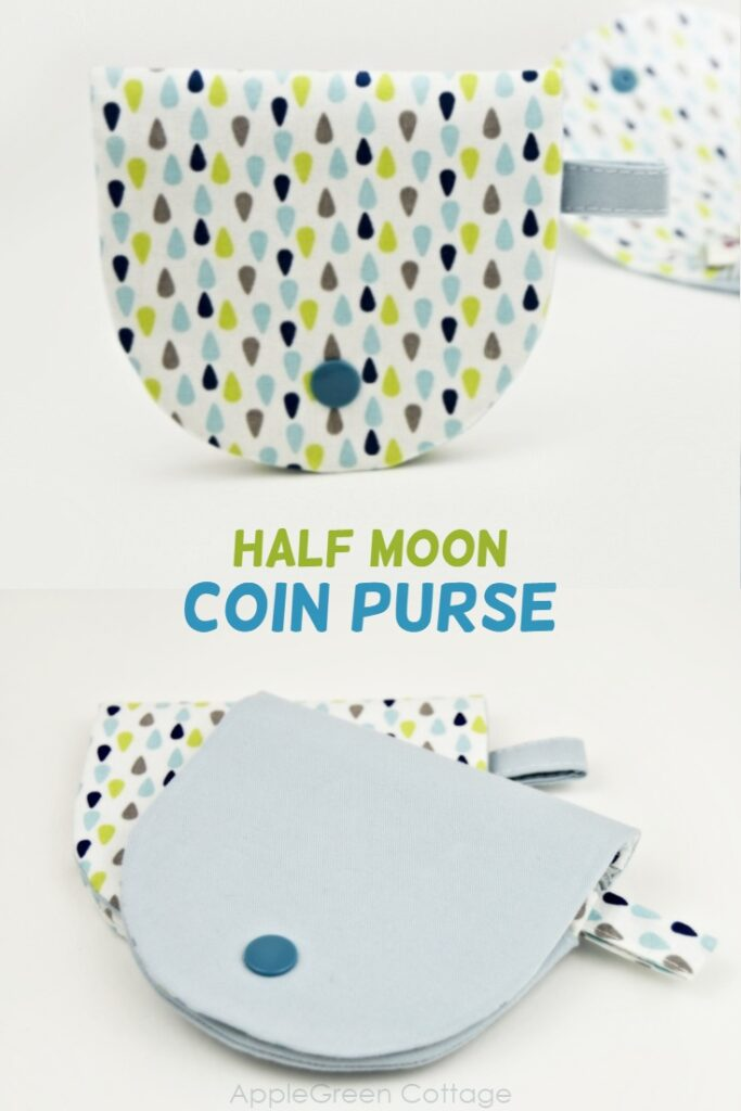 Half moon coin purse pattern to make the perfect everyday coin purse that will fit in any pocket!