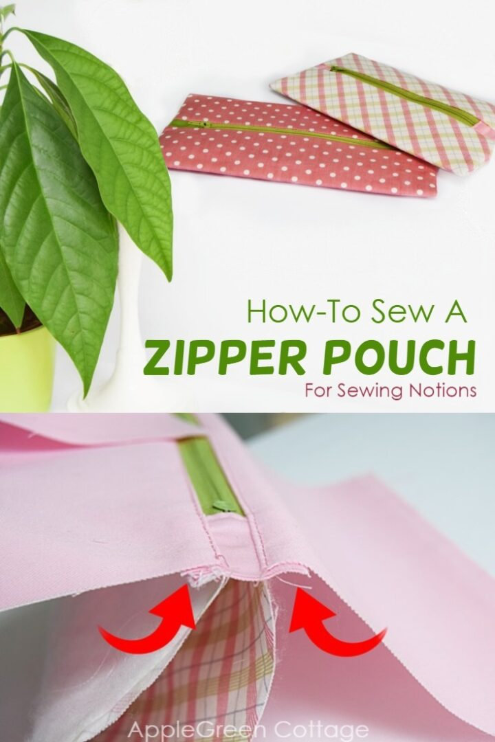 Zipper Pouch For Sewing Notions - Tutorial