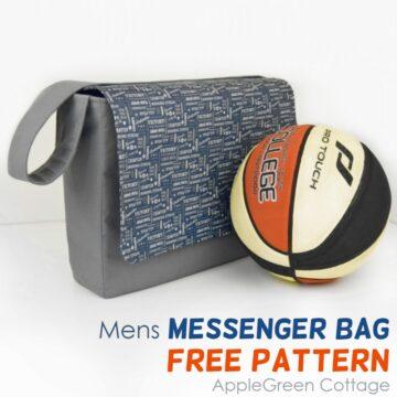 mens messenger bag pattern