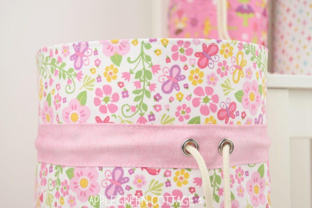 diy toy storage and fabric bins