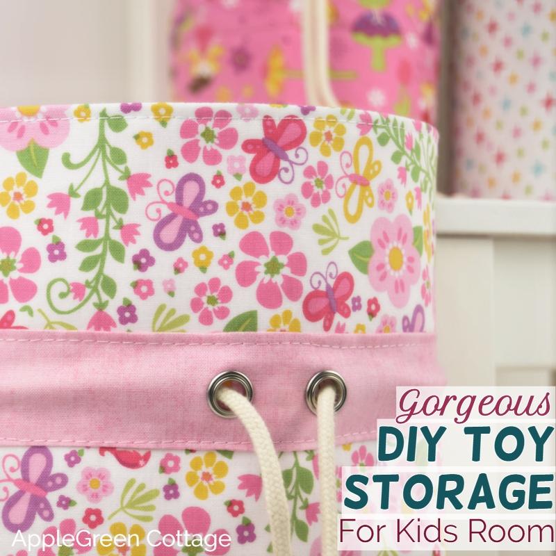 diy toy storage fabric bins