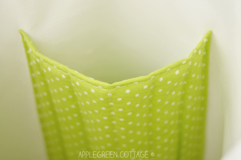 fabric basket pattern- with pocket